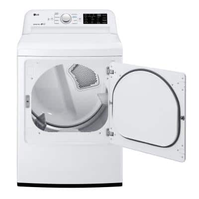 7.3 cu. ft. Ultra Large High-Efficiency White Electric Vented Dryer with Sensor Dry & Reversible Door, ENERGY STAR