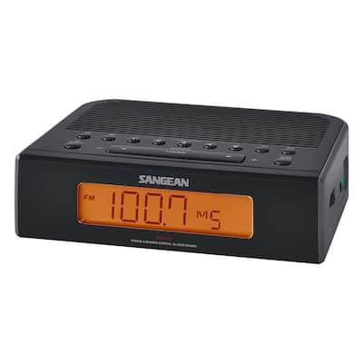 FM/AM Digital Tuning Alarm Clock Radio (Black)