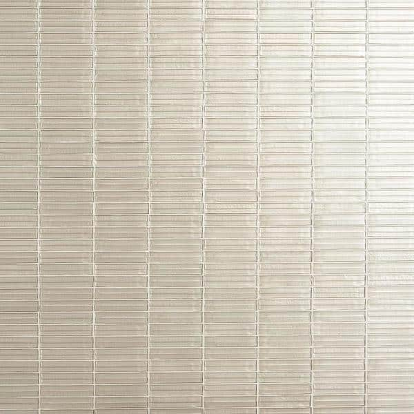 Ivy Hill Tile Tara Ivory 11 61 In X 11 73 In Stacked Glass Mosaic Tile 0 95 Sq Ft Sheet Ext3rd105431 The Home Depot