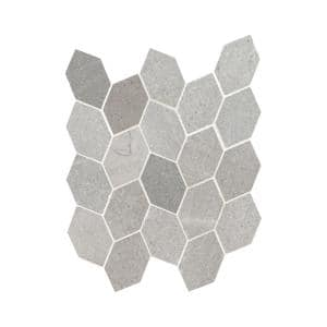 Lilly Pad 12.6 in. x 11.15 in. x 10mm Honed Limestone Blend Mesh-Mounted Mosaic Floor and Wall Tile (9.8 sq. ft./Case)