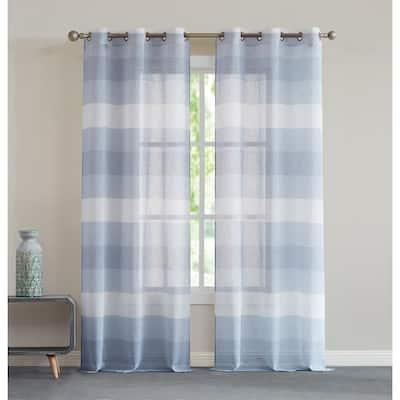 "Chelsea Window Curtain Blue 76"" x 84"""