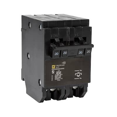 Homeline 2-20 Amp 2-Pole Quad Tandem Circuit Breaker