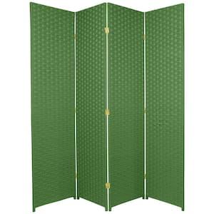 6 ft. Light Green 4-Panel Room Divider