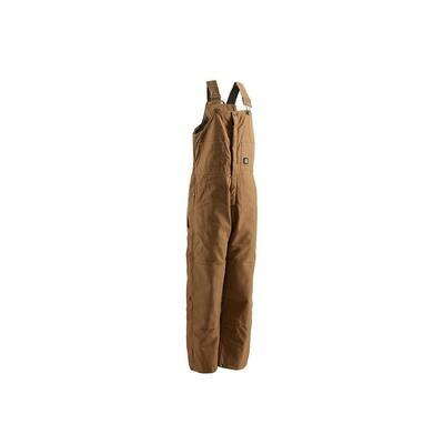 Men's 36 in. x 32 in. Brown Duck 100% Cotton Deluxe Insulated Bib Overall