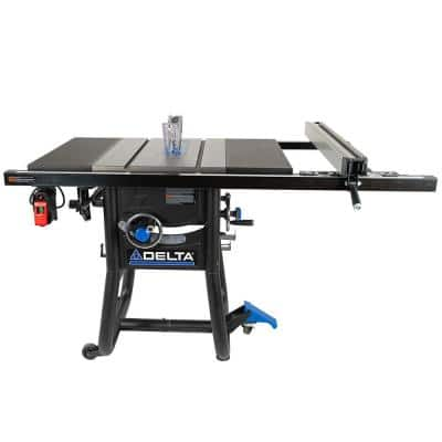 15 Amp 10 in. Table Saw with 30 in. Rip Capacity, Cast Iron Table and Extension Wings