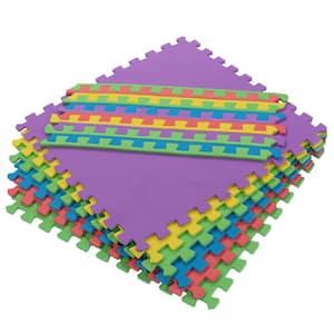 Multi-Purpose Multi-Color 24 in. x 24 in. EVA Foam Interlocking Anti-Fatigue Exercise Tile Mat (6-Piece)