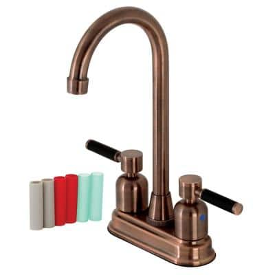 Kaiser Two-Handle Bar Faucet in Antique Copper