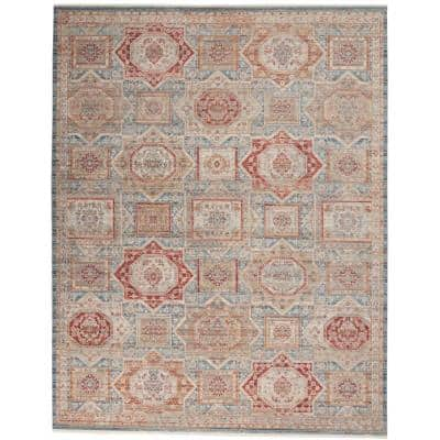 Enchanting Home Blue/Multicolor 10 ft. x 13 ft. Persian Medallion Traditional Area Rug