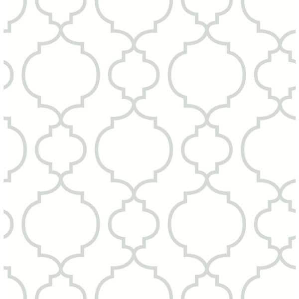 A Street Prints Desiree White Quatrefoil Paper Strippable Roll Wallpaper Covers 56 4 Sq Ft 2657 22259 The Home Depot