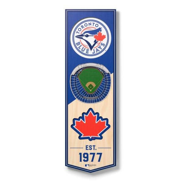 Youthefan Mlb Toronto Blue Jays 6 In X 19 In 3d Stadium Banner Rogers Centre 0953883 The Home Depot