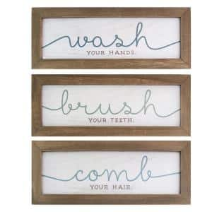 Wash, Brush, Comb Bath Art (Set of 3)