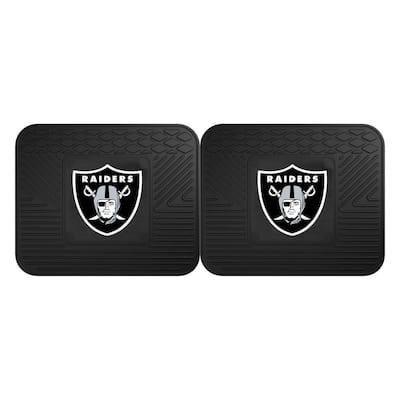 NFL - Las Vegas Raiders Black Heavy Duty 2-Piece 14 in. x 17 in. Vinyl Utility