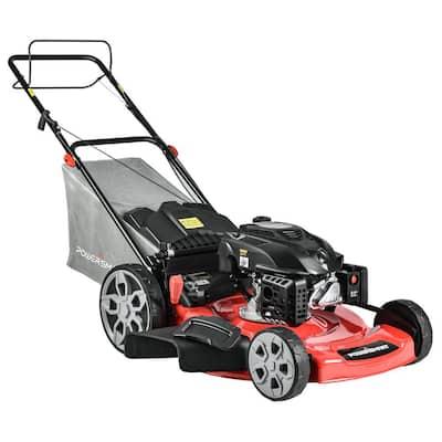22 in. 3-in-1 200 cc Gas Walk Behind Self Propelled Lawn Mower