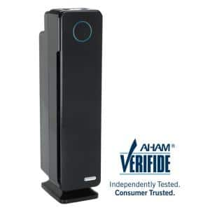 Elite 4-in-1 True HEPA Air Purifier with UV Sanitizer and Odor Reduction, 28 in. Digital Tower