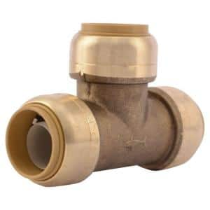 3/4 in. Push-to-Connect Brass Tee Fitting