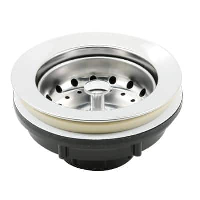 Basket Strainer Stainless Steel Post 3-1/2 in. to 4 in. CE with Putty