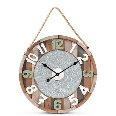 Garrison Brown Wall Clock