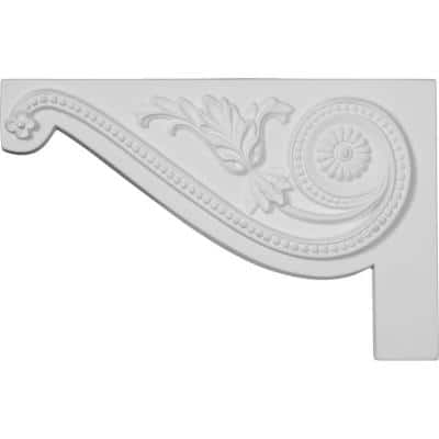 5/8 in. x 11 in. x 7 in. Polyurethane Left Large Pearl Stair Bracket Moulding