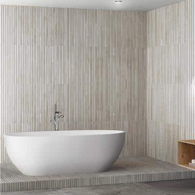 Montgomery Ribbon Gray 24 in. x 48 in. Matte Porcelain Floor and Wall Tile (15.49 sq. ft./Case)
