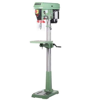 17 in. 3/4 HP Electronic Variable Speed Drill Press with Flip-Up Guard and Integrated Laser Pointer