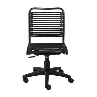 Allison Bungie Black Flat Low Back Office Chair