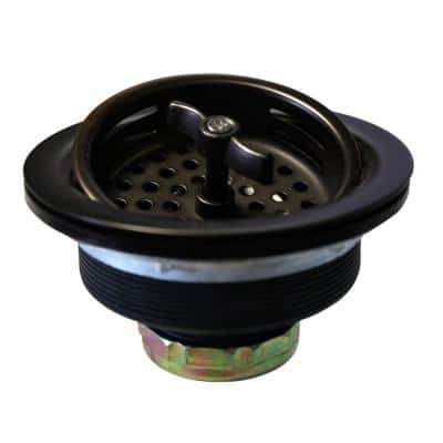 3-1/2 in. Wing Nut Basket Strainer in Oil Rubbed Bronze