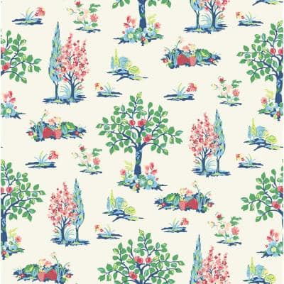 Green Charming Grove Peel and Stick Wallpaper