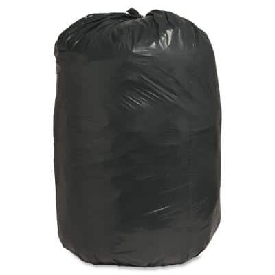 60 Gal. 38 in. x 58 in. 1.25 mil Recycled Heavy-Duty Trash Liners (100/Box)