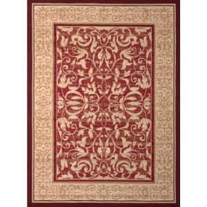 Dallas Baroness Red 5 ft. x 7 ft. Indoor Area Rug