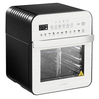1600-Watts Silver/Black Electric Air Fryer Oven Ultra with Rotisserie, Dehydrator, and Accessories