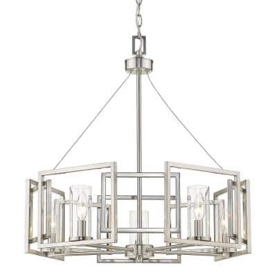 Marco 5-Light Pewter Chandelier with Clear Glass