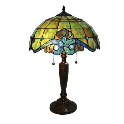 Tiffany Pearl 25 in. Bronze Vintage Table Lamp