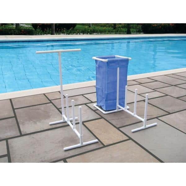 Swimline White Plastic Swimming Pool Mesh Bag Toys Poolside Organizer Bnib For Floats 8903 The Home Depot