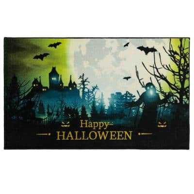 Glowy Spook Green 2 ft. 6 in. x 4 ft. 2 in. Holiday Area Rug