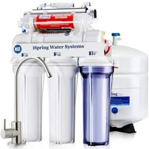 7-Stage Under-Sink Reverse Osmosis RO Drinking Water Filtration System with Alkaline Filter and UV Filter, NSF Certified