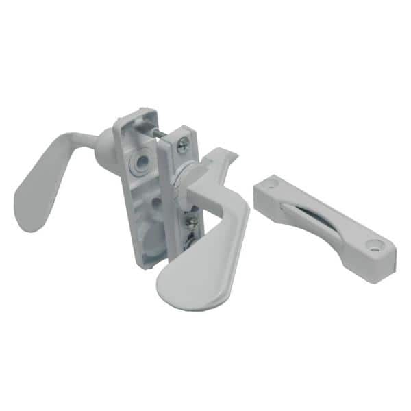 White Handle Set for in-Swinging Storm and Screen Doors Fast Shipping