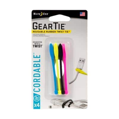 3 in. Gear Tie Cordable (4-Pack)