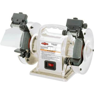 6 in. Portable Bench Grinder with LEDs