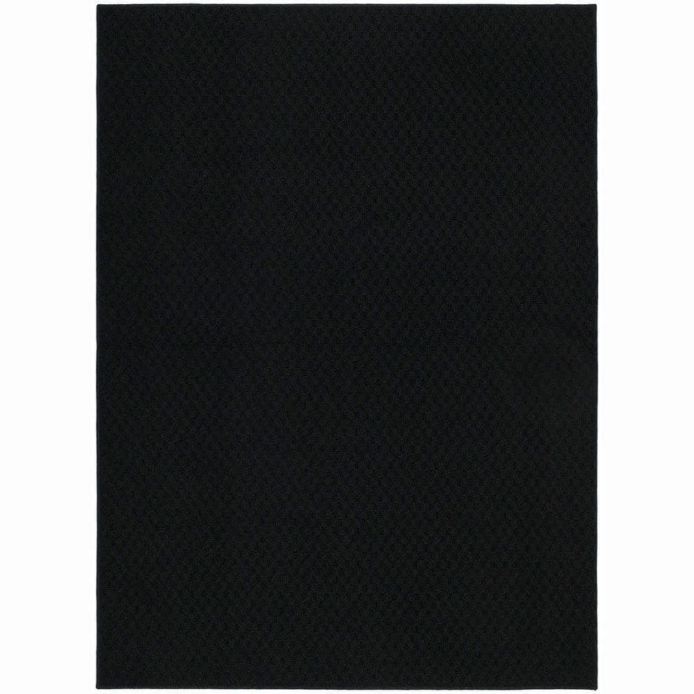 Garland Rug Town Square Black 7 Ft 6 In X 9 Ft 6 In Area Rug Ts 00 Ra 7696 15 The Home Depot