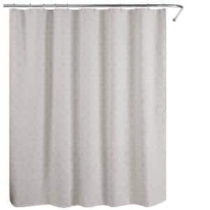 Bogart European Matelasse 72 in. Shower Curtain Grey