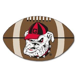 NCAA University of Georgia Bulldog Logo Brown 2 ft. x 3 ft. Specialty Area Rug