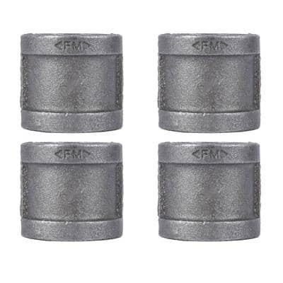1 in. Black Iron Coupling (4-Pack)