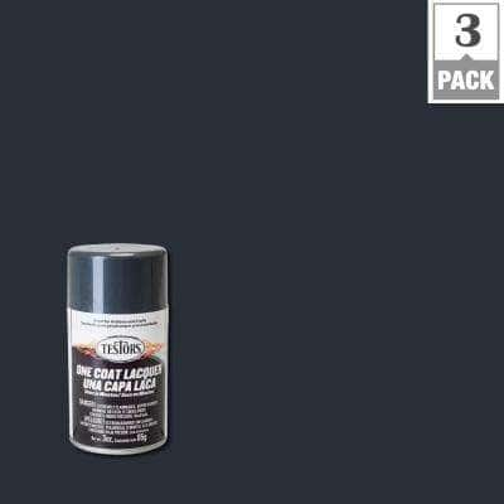 3 oz. Graphite Dust Lacquer Spray Paint (3-Pack)