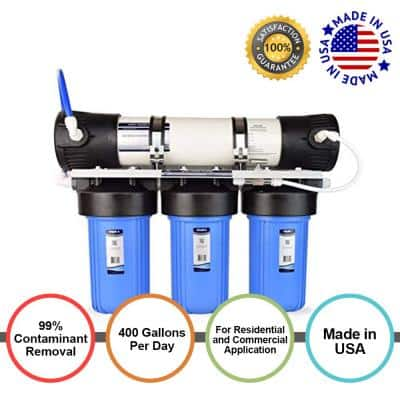 4-Stage 400 GPD Ultra Flow Residential & Light Commercial Reverse Osmosis Water Filter System for Drinking & Hydroponics