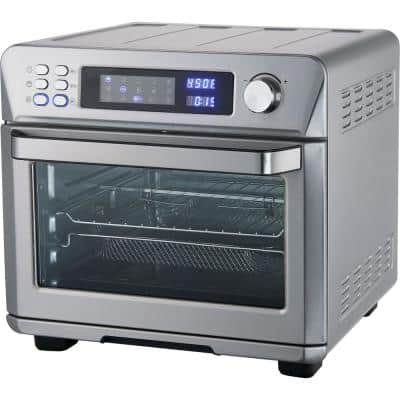 1700-Watt Stainless Steel Digital Countertop Multi-Function Air Fryer Rotisserie Convection Oven and Dehydrator