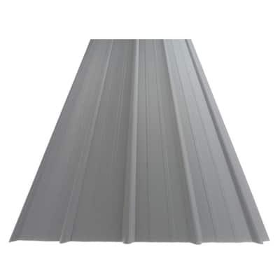12 ft. SM-Rib Galvalume Steel 29-Gauge Roof/Siding Panel in Gray