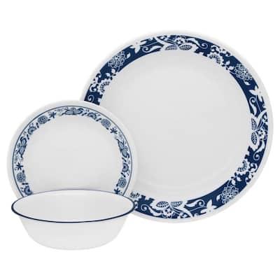 16-Piece Traditional True Blue Glass Dinnerware Set (Service for 4)