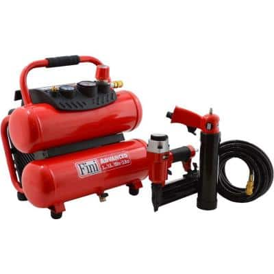 PRO-3 1.5 HP 3 Gal. 150 PSI Portable Electric Twin Stack Air Compressor with 2 Tool Combo Kit
