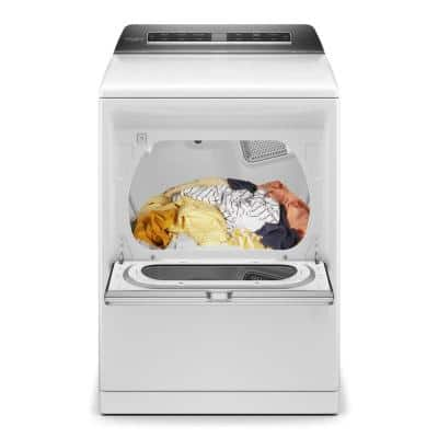 7.4 cu. ft. 120-Volt Smart White Gas Vented Dryer with a Hamper Door and Steam, ENERGY STAR