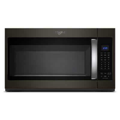 1.9 cu. ft. Over the Range Microwave in Fingerprint Resistant Black Stainless with Sensor Cooking